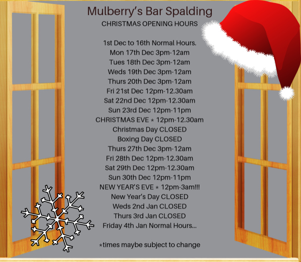 Mulberrys Christmas Opening Hours